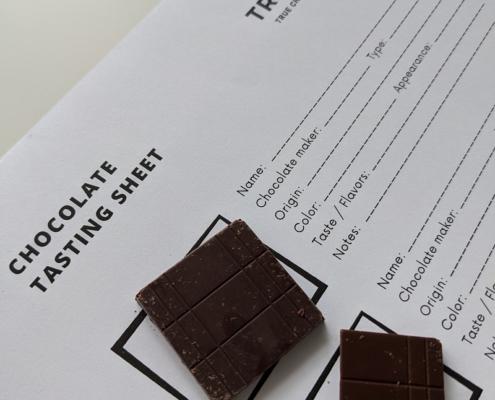 Online chocolate tasting