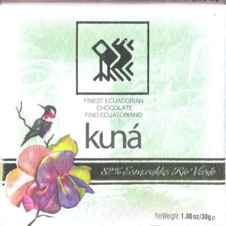 Kuna chocolate 82 rio verde esmeraldas